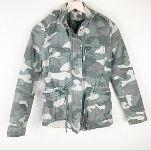 Green Camo military style jacket
